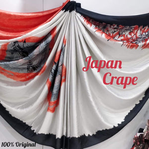 Japan crape silk saree 5022