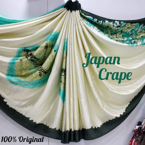 Japan crape silk saree 5023
