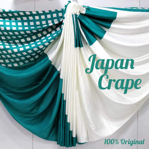 Japan crape silk saree 5026