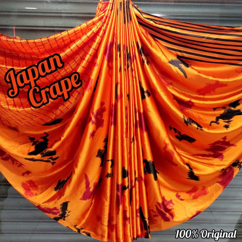 Japan crape silk saree with blouse MD-5067