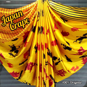 Japan crape silk saree with blouse MD-5068