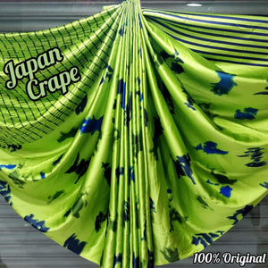 Japan crape silk saree with blouse MD-5072