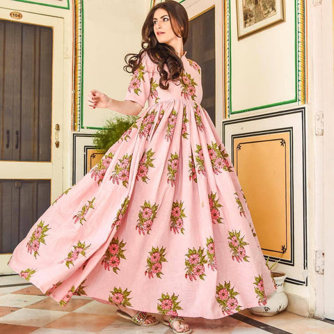 Pure american crepe traditional gown BN-1005