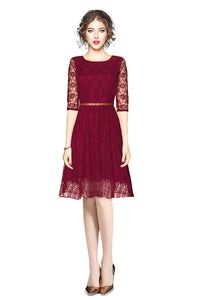 Fancy Designer Maroon Dress