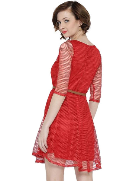 Fancy Exclusive Designer Red Dress