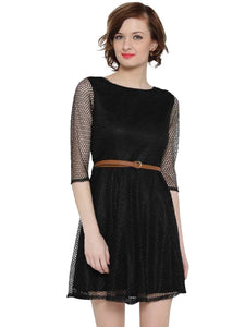 Fancy  Exclusive Designer Black Dress