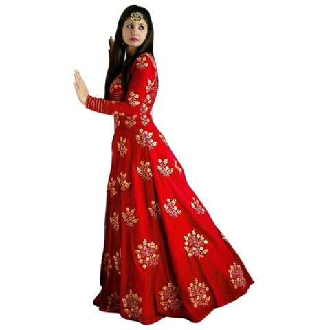 Designer Embroidered Salwar Suit for Womens- Divya Red