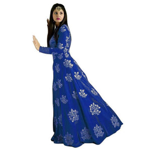 Designer Embroidered Salwar Suit for Womens- Divya Royal Blue