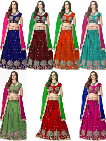 Banglori Silk Lehenga Choli with Santoon Dupatta - Hiran Lehenga all color
