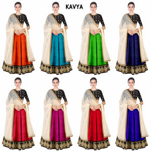 Embroidery Banglori Silk Lehenga Choli with Net Dupatta - Kavya Lehenga all color