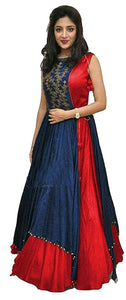 Party Wear Taffeta Silk Embroidery Salwar Suit - Poonam Red