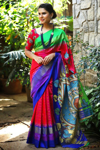 Multicolor Linen Digital Printed Saree MS-1071