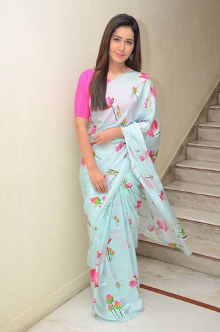 Linen Digital Printed Saree MS-1159