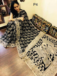 KalamKari Linen Digital Printed Saree MS-1232