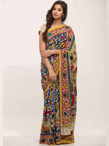 Fabulous KalamKari Linen Digital Printed Saree MS-1240