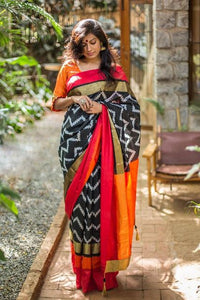 Linen Digital Printed Saree MS-1252