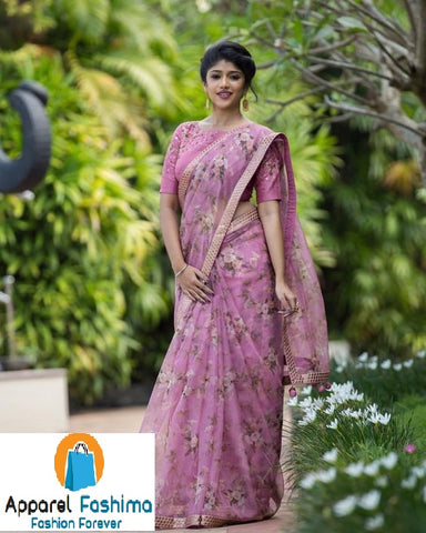 Arresting Pink Colored Festive Wear Pure Linen Saree MS-1283