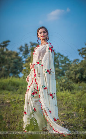 Linen Designer Digital Print Saree MS-1323