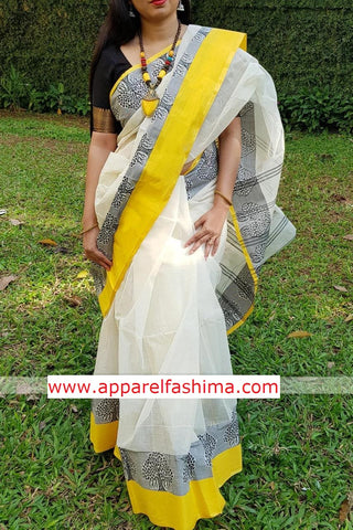 Apparel Fashima Designer Linen Printed Saree MS-1431
