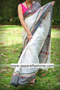 Apparel Fashima Designer Linen Printed Saree MS-1433