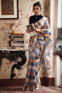 Apparel Fashima Designer Linen Printed Saree MS-1483