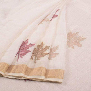 Apparel Fashima Designer Linen Printed Saree MS-1593