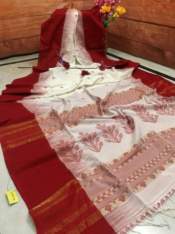 New Designer Linen Printed Saree MS-1709