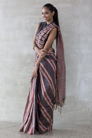 New Designer Linen Printed Saree MS-1728