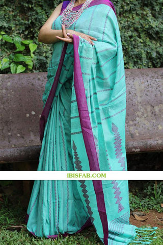 New Designer Linen Printed Saree MS-1754