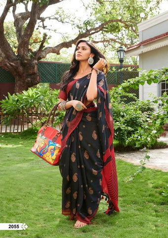 Awsome Designer Linen Printed Saree MS-1760