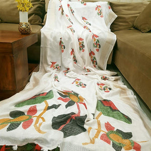 White Color Designer Linen Printed Saree MS-1849