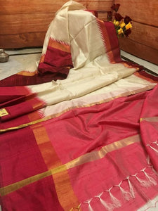 Beautiful Designer Linen Printed Saree MS-1920