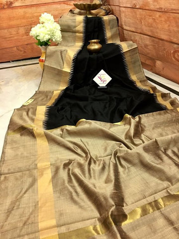 Beautiful Designer Linen Printed Saree MS-1923