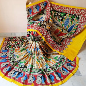 Kalamkari Beautiful Designer Linen Printed Saree MS-1932