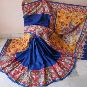 Kalamkari Beautiful Designer Linen Printed Saree MS-1941