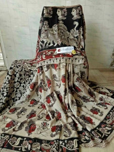 Kalamkari Latest Designer Linen Printed Saree MS-1952