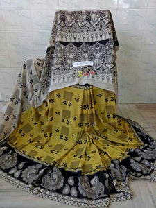 Kalamkari Designer Digital Printed Linen Saree MS-1965