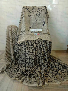 Kalamkari Designer Digital Printed Linen Saree MS-1974
