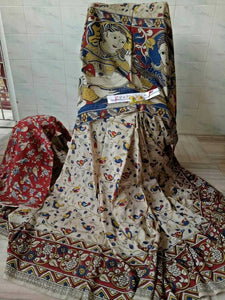 Kalamkari Designer Digital Printed Linen Saree MS-1998