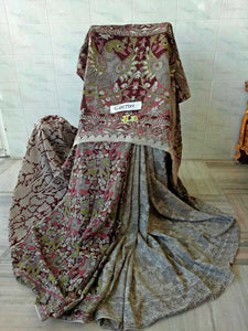 Kalamkari Designer Digital Printed Linen Saree MS-1999