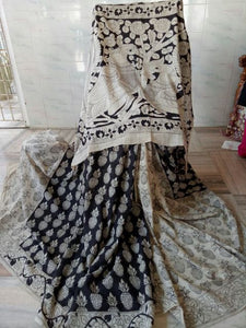 Kalamkari Designer Digital Printed Linen Saree MS-2006