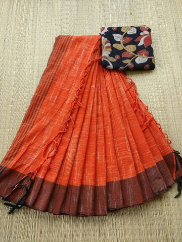 Awsome Designer Linen Printed Saree MS-2046
