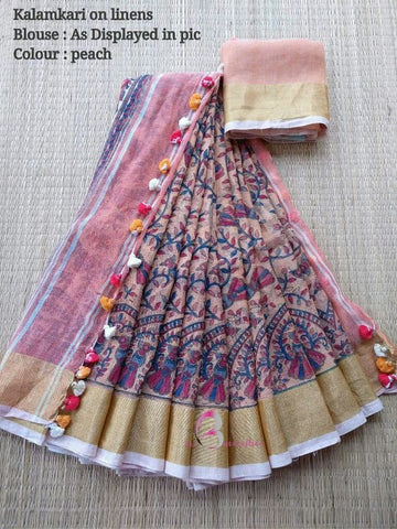 Awsome Designer Linen Printed Saree MS-2048