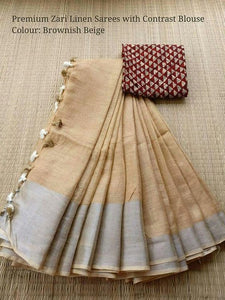 Awsome Designer Linen Printed Saree MS-2056