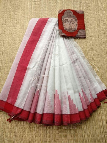 Awsome Designer Linen Printed Saree MS-2063