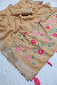 Beautiful Designer Linen Printed Saree MS-2102