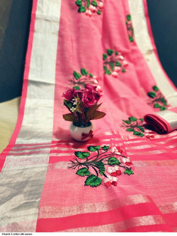 Beautiful Designer Linen Printed Saree MS-2130