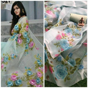 Beautiful Designer Linen Printed Saree MS-2165
