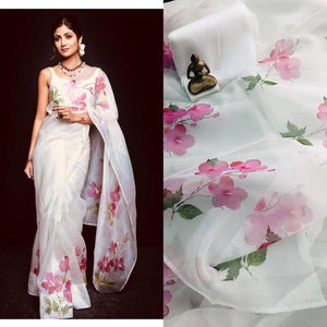Beautiful Designer Linen Printed Saree MS-2169