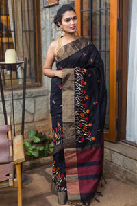 Beautiful Designer Linen Printed Saree MS-2176